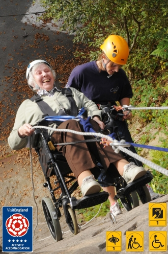 wheelchair abseil (mar 2013)